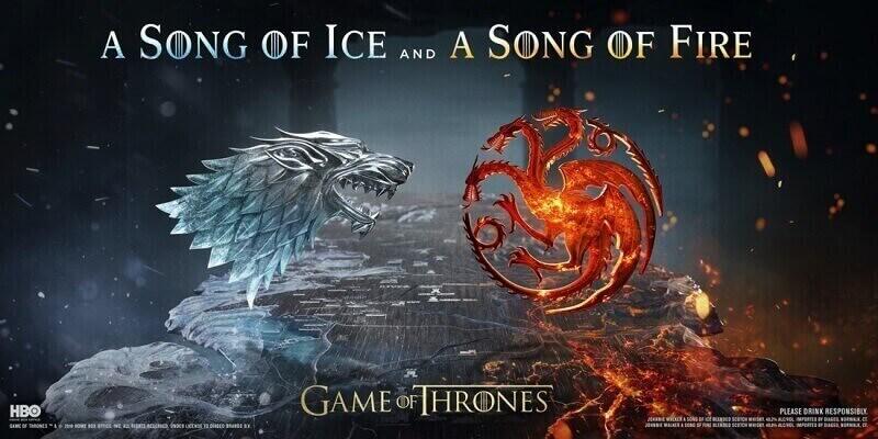 """Johnnie Walker с две нови колекционерски уискита – A Song of Ice and A Song of Fire – вдъхновени от епичните фракции в """"Игра на тронове"""""""